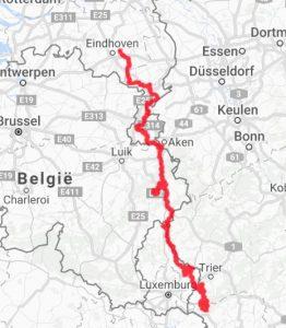 de-route-van-2016